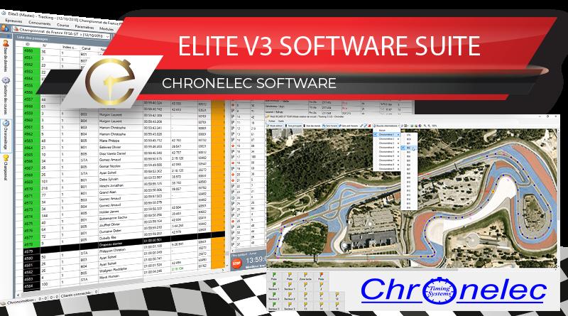 EliteV3 Elite V3 Chronelec software logiciel chronométrage timekeeping